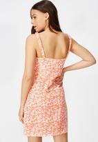 Factorie - Sweetheart mini dress taylor ditsy - orange