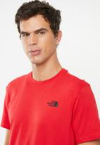 The North Face - Short sleeve simple dome tee - red