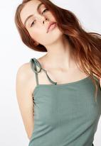 Factorie - Side split dress - khaki