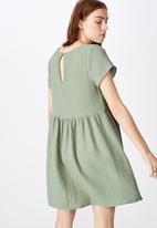 Factorie - Short sleeve baby doll dress - green
