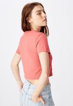 Factorie - Fitted graphic tshirt stencil dragon - orange