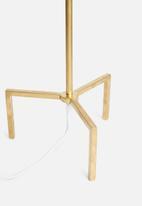 Sixth Floor - 3-legged lamp base - gold