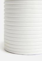 SF Collection - Ridges lamp base - white