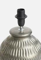 Sixth Floor - Chisel lamp base - gunmetal