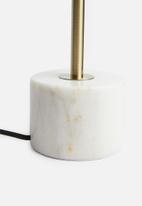 SF Collection - Marble upright lamp base - gold