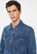 Superbalist - Zip through denim trucker jacket - blue