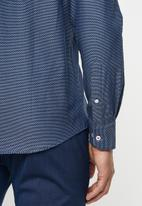 POLO - Kevin jacquard dot signature shirt - navy
