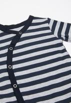 POP CANDY - Stripes sleepsuit - navy