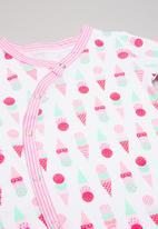POP CANDY - Ice-cream print sleepsuit - pink