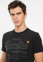 Superdry. - Premium goods tonal tee - black