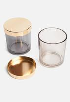 Sixth Floor - Canisters set of 2 - amber/grey