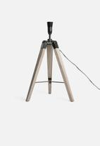Sixth Floor - Industrial tri-pod lamp base - natural