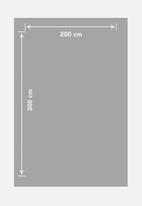 Sixth Floor - Abstract antique trend rug - dark grey & cream