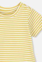 Cotton On - Jamie short sleeve tee - yellow & white