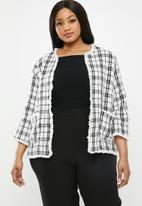 Carmakoma - Laura jacket - white & black