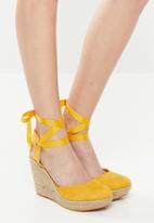 Superbalist - Molly espadrille wedge - yellow