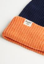 HERSCHEL - Quartz beanie - orange & navy