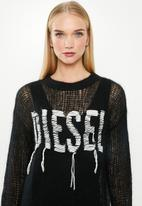 Diesel  - M-Andrea pullover knitwear top - black & white