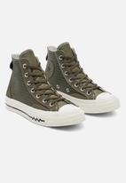 Converse - Chuck 70 VLTG Leather Overlay Hi Utility - green / field surplus