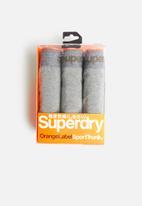 Superdry. - Orange label sport 3 pack trunks - grey