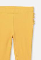 Cotton On - Quinn ruffle legging - yellow
