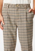 Cotton On - Mini check oxford trouser - brown