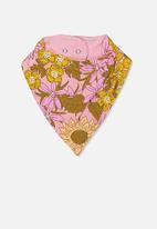 Cotton On - The kerchief bib - pink & yellow