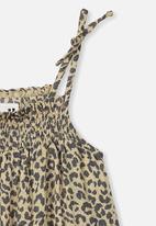 Cotton On - Lila sleeveless dress - beige & grey