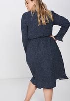 Cotton On - Curve woven willow wrap - navy
