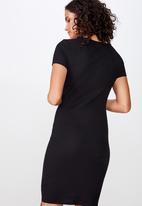 Cotton On - Gabby short sleeve mini dress - black