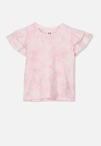 Cotton On - Fleur flutter top - pink