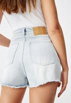 Factorie - High rise denim shorts - blue