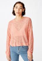 Factorie - Long sleeve textured top - pink