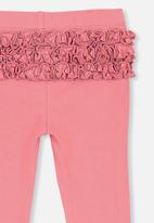 Cotton On - Quinn ruffle legging - pink