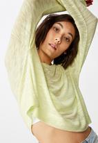 Factorie - Long sleeve textured top - green