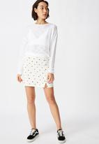 Factorie - Long sleeve textured top - white