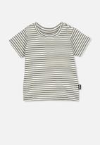 Cotton On - Jamie short sleeve tee - khaki & white