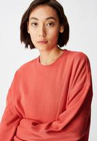 Factorie - Oversized crew neck sweater - coral