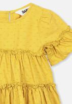 Cotton On - Abby flutter dress - yellow