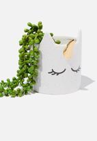 Typo - Small shaped planter - white