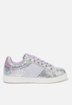 Cotton On - Tibi sneaker - silver & purple