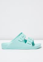 Cotton On - Twin strap slide - blue