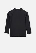 Cotton On - Flynn long sleeve rash vest  - black