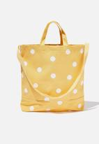 Cotton On - Printed tote bag - mustard