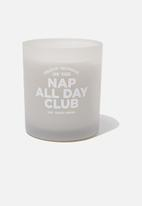 Typo - Solid quote candle - nap club