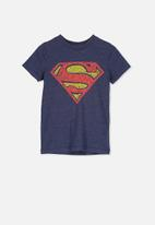 Cotton On - Short sleeve licence cape tee - navy & red