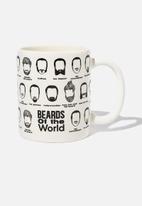 Typo - Moustache mug - white & black