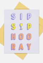 Typo - Congratulations card - sip sip hooray!
