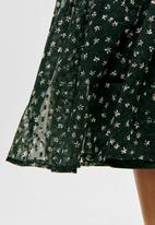 ONLY - Kim maxi woven skirt - green