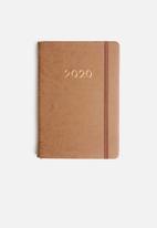 Typo - 2020 A5 weekly buffalo diary - tan